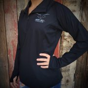 WOMENS BLACK PULLOVER FRONT